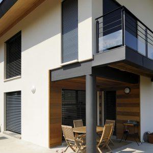 BSO vue exterieure maison contemporaine