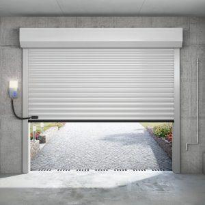 porte de garage PX75 en situation vue interieure allumee