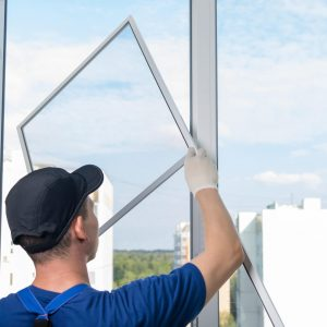 The,Wizard,For,Installing,Plastic,Windows,Installs,A,Mosquito,Net